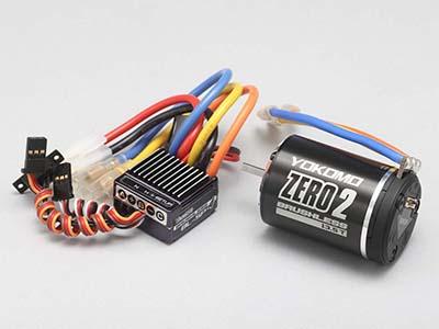 BL-S4105B 【YOKOMO/ヨコモ】 BL-SP4ブラシレススピードコントローラー+ZERO 2ブラシレスモーター10.5T付ブラシレスコンボ