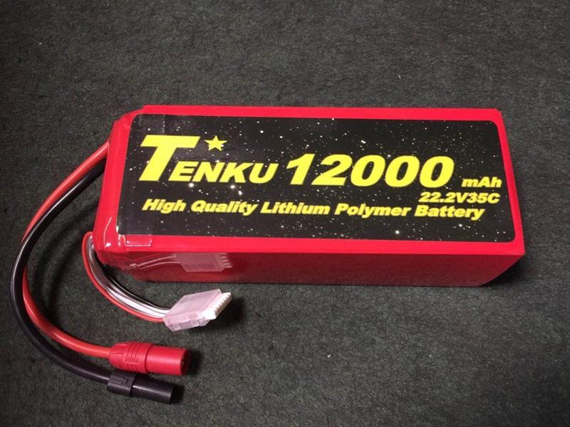 高容量業務用LIPO  TENKU12000mA6S35C