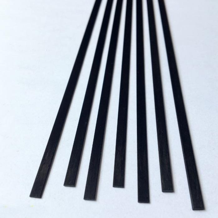 カーボンフラットバー 厚み0.5mm幅5mm長さ1m 信用 超激安 CFB055
