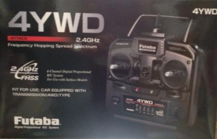 【基本送料無料】フタバ/4YWD 2.4G スティックプロポ TR(送受信機)セット(4WD)【smtb-k】【w3】