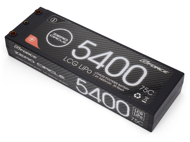 ラジコン 夢空間取り扱い商品 ネコポス対応 G-FORCE ジーフォース 買物 GE220 ZERO CIRCLE LCG 7.4V 5400mAh 別倉庫からの配送 75C リポバッテリー