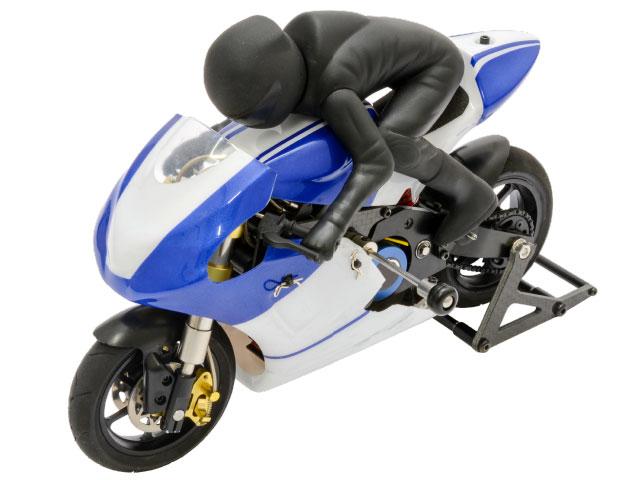 【基本送料無料】ハイテック(HiTEC)/CX3-T18B/E-RIDER Moto 1(イーライダー モト1)1/10電動RCバイク(ブルー)