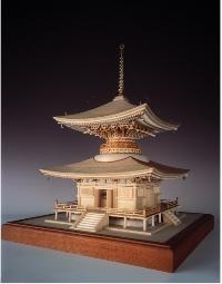 【基本送料無料】ウッディジョー(Woody JOE)/木製模型 1/50 石山寺多宝塔 【smtb-k】【w3】