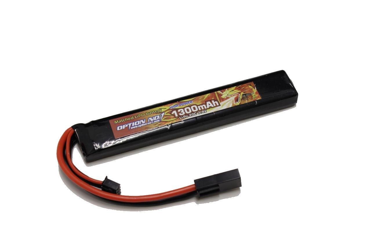 ラジコン 夢空間取り扱い商品 新作送料無料 ネコポス対応 OPTION No.1 超特価 オプションNo.1 マッチドリポバッテリー HIGH LiPo7.4V1300mAh POWER GB-0013M