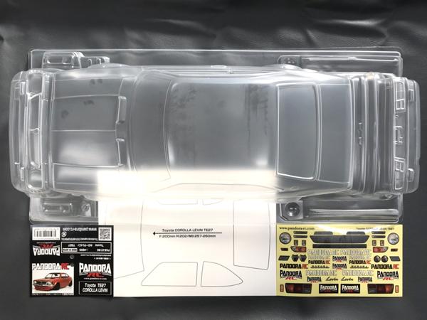 ラジコン 夢空間取り扱い商品 パンドラRC 直送商品 Pandora RC PAB-2189 Toyota COROLLA TE27 LEVIN 本物 未塗装 カローラ レビン スペアボディセット