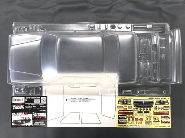 新作通販 ラジコン 夢空間取り扱い商品 パンドラRC Pandora RC PAB-2190 NISSAN NEW Y31 クリアボディセット 未塗装 CEDRIC SEDAN セダン セドリック