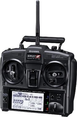 【基本送料無料】サンワ(SANWA)/101A31205A/EXZES Z 2.4Gプロポ(RX-462 PC/センサー付)スティックタイプ【smtb-k】【w3】