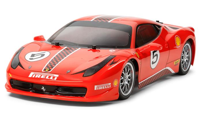 【基本送料無料】タミヤ(TAMIYA)/58560-24BL/TT-02 フェラーリ 458 チャレンジ 2.4Gプロポ+ブラシレスシステム付きフルセット(未組立品)【smtb-k】【w3】