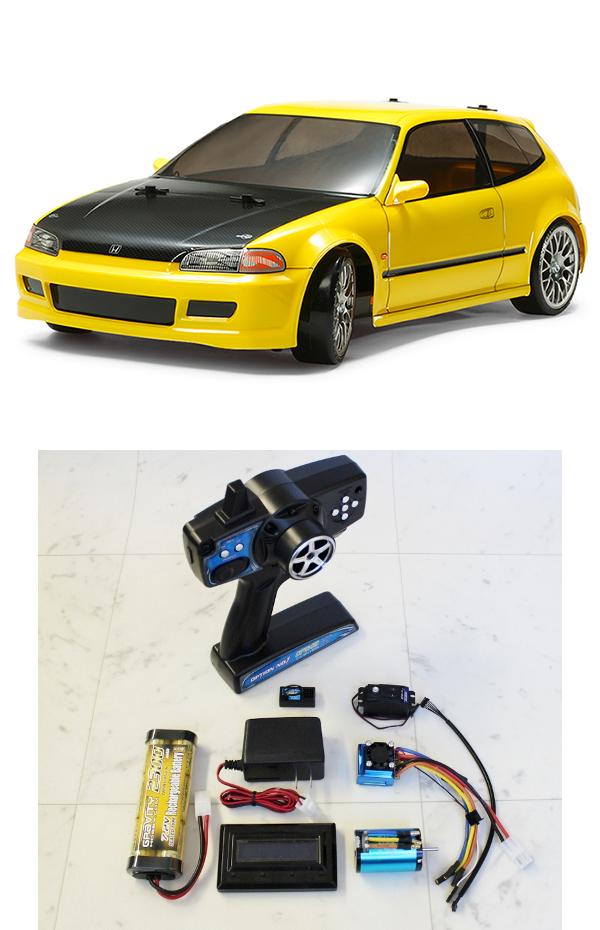 【基本送料無料】【ラジコン】タミヤ(TAMIYA)/58637-24BL/TT-02D Honda シビックSiR(EG6)ドリフトスペック 2.4Gプロポ+ブラシレスシステム付きフルセット(未組立・未塗装)【smtb-k】【w3】