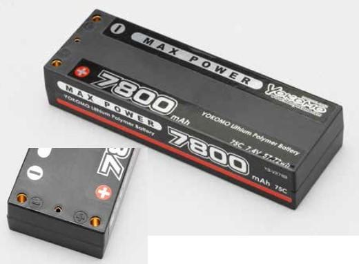 【ネコポス対応】YOKOMO(ヨコモ)/YB-V278B/ヨコモ Li-po 7800mAh/7.4V 75C バッテリー