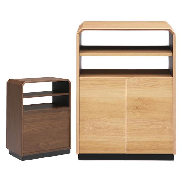 日本製 おしゃれ サイドテーブル サイドボード 幅60cm 高さ85cm 【国産 大川家具 完成品】木製 収納 ベッドサイドテーブル(代引不可)【送料無料】