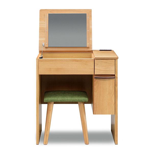 ドレッサーデスク 化粧台 椅子付き 完成品 幅65cm コンパクト メイク台 収納ボックス 引き出し 鏡台(代引不可)【送料無料】【inte_D1806】