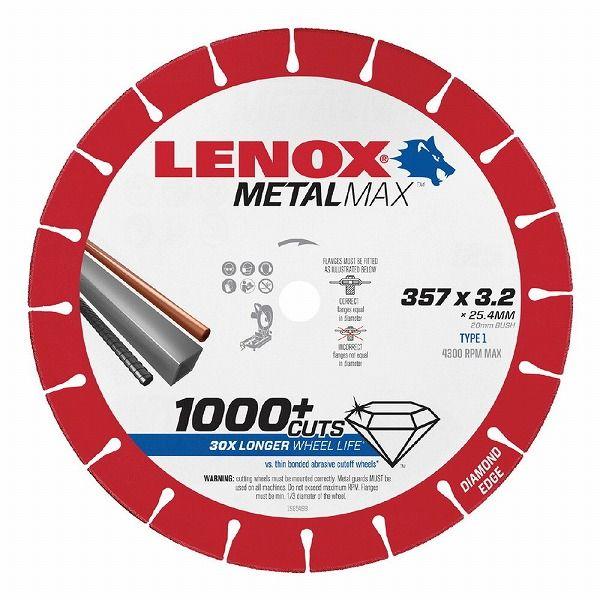 LENOX レノックス 1985498 LENOX メタルマックス 357X25.4【20 1985498】X3.2(代引不可) メタルマックス【送料無料】, アクア ニューインナー:802552b2 --- kutter.pl