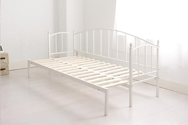 ベッド シングル フレーム アイアン横伸長式ソファベッド MERYL メリル フレームのみ シングル(代引不可)【送料無料】