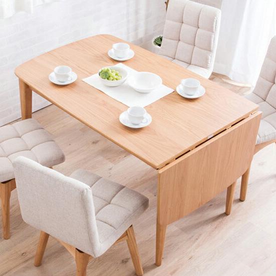 ダイニングテーブル 北欧 テーブル 木製 伸長式 伸縮 幅120-160cm ウォールナット ナチュラル バタフライテーブル 木目 食卓用(代引不可)【送料無料】
