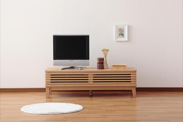 テレビ台 テレビボード ローボード 完成品 天然木 北欧 レトロ デザイン テレビ台 テレビボード MESH メッシュ 幅120(代引不可)【送料無料】