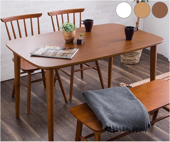 ダイニングテーブル 幅120cm 単品 食卓用 木製テーブル ホワイト アンティーク(代引不可)【送料無料】【int_d11】