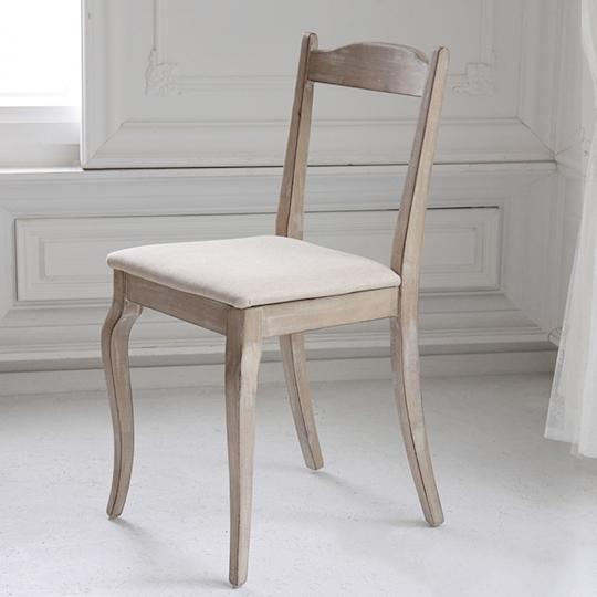 木製デスクチェア ダイニングチェア 1人掛け アンティークシャビーシックイス いす シシリー 椅子 スツール 1人用 一人用(代引不可)【送料無料】【int_d11】