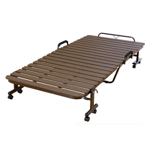 ベッド すのこベッド 折りたたみベッド 折りたたみ樹脂 抗菌樹脂使用 折りたたみ すのこ(代引不可)【送料無料】