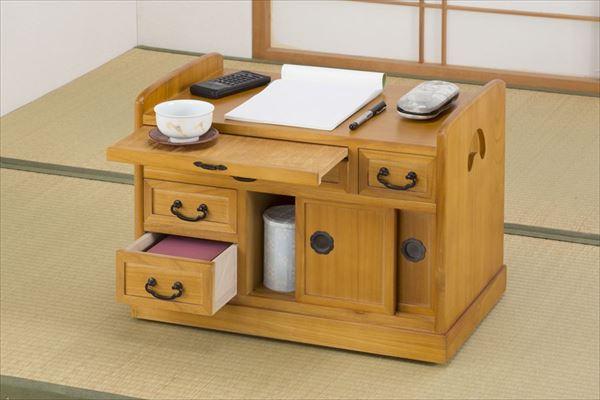 小袖机 ワゴン テーブル キャスター付き ポットワゴン 和室 収納 収納ワゴン シンプル キャスター付き(代引不可)【送料無料】