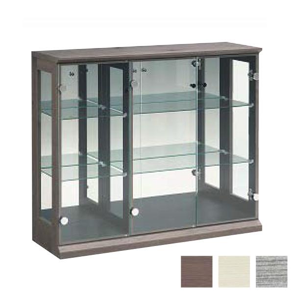 コレクションボード 幅97cm 奥行31cm 高さ83cm 完成品 リビングボード コレクションラック 飾棚 収納 ガラス フィギュア(代引不可)【送料無料】