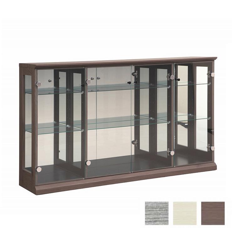 コレクションボード 幅139cm 奥行31cm 高さ83cm 完成品 リビングボード コレクションラック 飾棚 収納 ガラス フィギュア(代引不可)【送料無料】