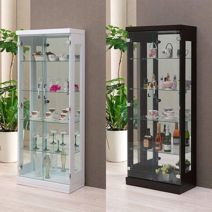 フォース60 コレクションラック 幅60cm×奥行30cm×高さ150cm コレクションケース コレクションボード 飾り棚 ガラス棚 ショーケース