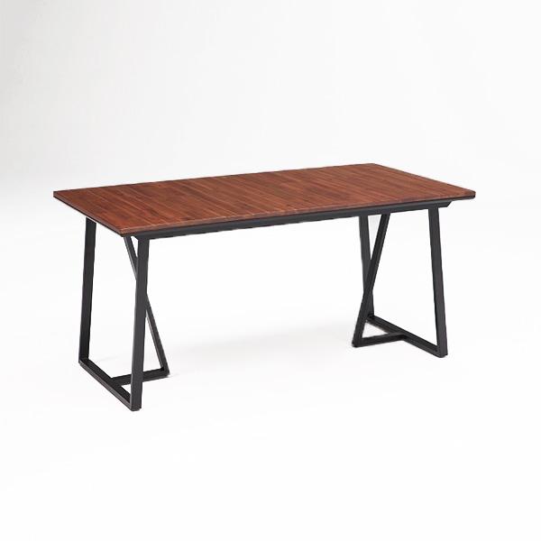 ダイニングテーブル ダイニングテーブル単品 ブラウン 150cm 無垢材使用 T字脚 アカシア無垢材 4人掛け用 テーブル ダイニング(代引不可)【送料無料】
