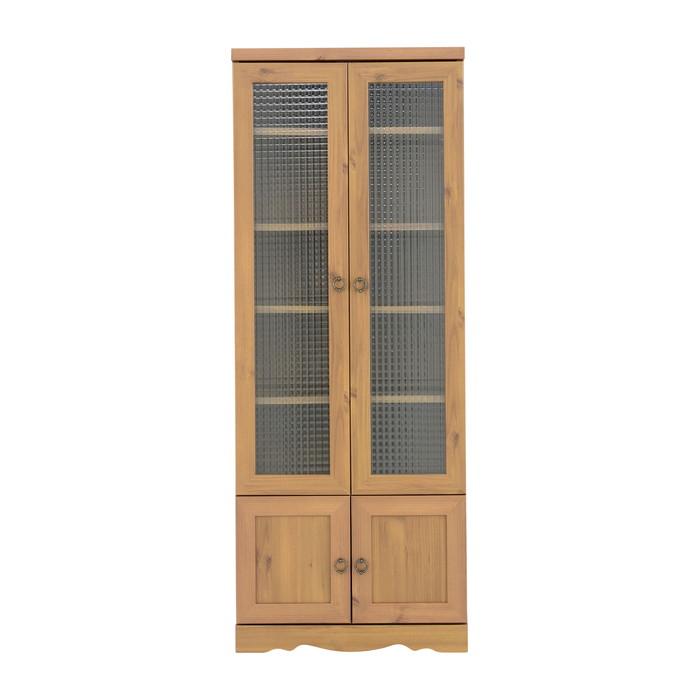 アンティーク調 食器棚 幅58cm高さ150cm 収納棚 キッチン収納 食器 戸棚 キッチン 台所(代引不可)【送料無料】