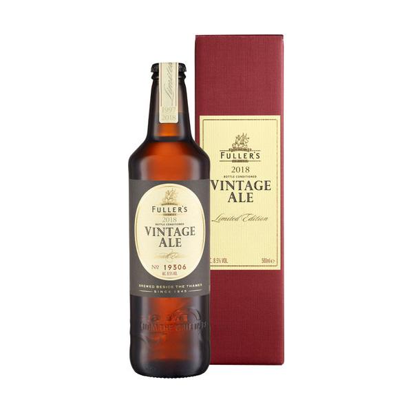 5☆大好評 送料無料 フラーズ ヴィンテージ エール2018 500ml 瓶 Fuller's 訳ありセール 格安 ヴィンテージエール Vintage ギフト Ale ビール イギリス 1ケース販売:12本入り