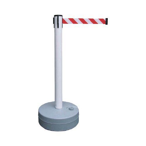 緑十字 バリアースタンド(スタート+キャッチ) ポール:白 ベルト:白/赤 368011(代引き不可)【送料無料】