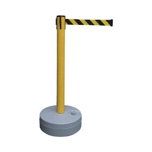 緑十字 バリアースタンド(スタート+キャッチ) ポール:黄 ベルト:黄/黒 368012(代引き不可)【送料無料】