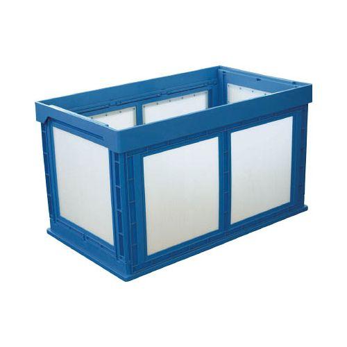 KUNIMORI プラスチック折畳みコンテナ パタコン N-180 ブルー 50210N180B(代引き不可)【送料無料】