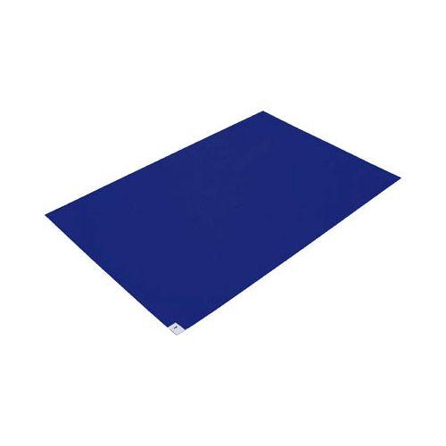 TRUSCO 粘着クリーンマット 600X1200MM ブルー (10枚入) CM601210B(代引き不可)【送料無料】