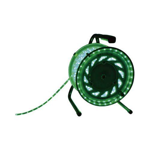 日動 LEDラインチューブドラム緑 RLL30SG(代引き不可)【送料無料】