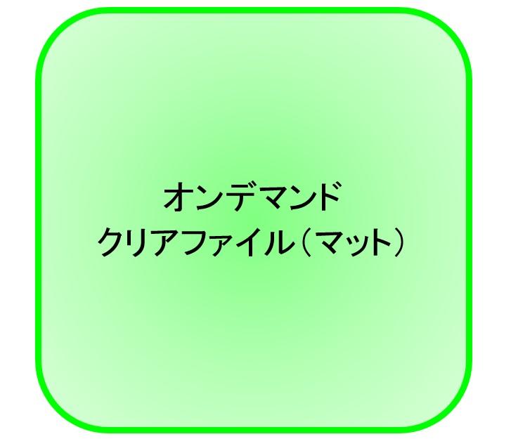 【送料無料】オンデマンドクリアファイル(マット) オンデマンドクリアファイル(マット 100枚パック 1枚あたり265.6円)(代引不可)【送料無料】【S1】