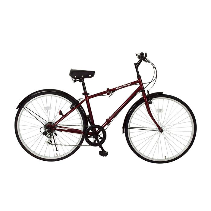 クラシックミムゴ 折りたたみ自転車 クロスバイク 700C 6段ギア MG-CM700C クラシックレッド(代引不可)【送料無料】