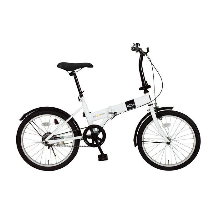 シボレー 折りたたみ自転車 20インチ MG-CV20R ホワイト(代引不可)【送料無料】