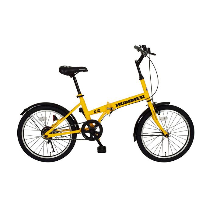 ハマー 折りたたみ自転車 20インチ MG-HM20R イエロー(代引不可)【送料無料】