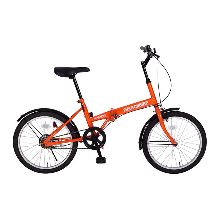 フィールドチャンプ 折りたたみ自転車 20インチ MG-FCP20 オレンジ(代引不可)【送料無料】