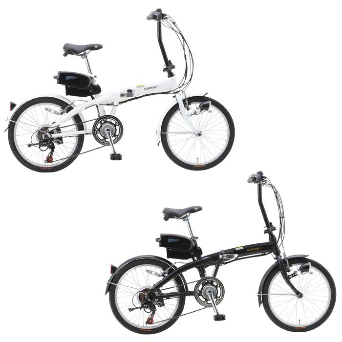スイスイ 電動アシスト自転車 折りたたみ 20インチ 6段ギア BM-A30 2色 ホワイト マットブラック ライト付(代引不可)【送料無料】