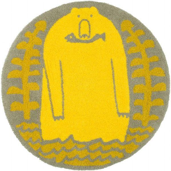 ラグ ラグマット 90X90 Masaru Suzuki サルモン カーペット 絨毯 カワイイ オシャレ ホットカーペット対応 スミノエ(代引不可)【送料無料】