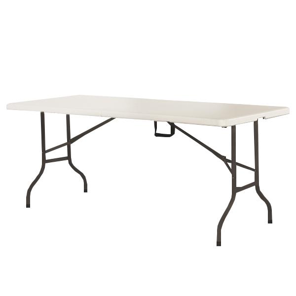 折り畳み式アウトドアテーブル アウトドアテーブル 折りたたみ 頑丈 大型 幅180×奥行75cm レジャーテーブル(代引不可)【送料無料】【inte_D1806】