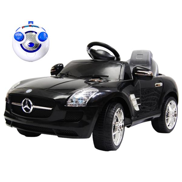 電動乗用ベンツ SLS-AMG レッド ブラック QX-7997A 乗用カー ラジコン 操作可 スピーカー インテリア 子供 プレゼント 誕生日(代引不可)【ポイント10倍】