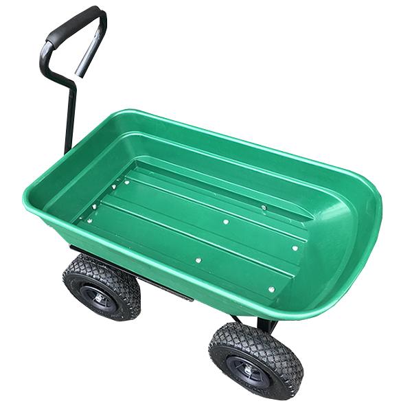 ガーデンワゴン ダンプカート ガーデンカート キャリーカート ワゴン 耐荷重100kg ガーデニング 台車 収穫物や肥料、土の運搬(代引不可)【送料無料】