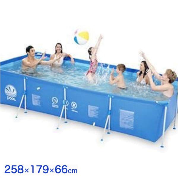 ビッグ 角型 フレームプール ファミリープール 巨大プール 家庭用 ビニールプール 水遊び ビッグサイズプール プール(代引不可)【送料無料】