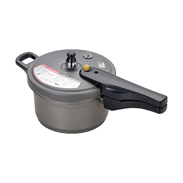 北陸アルミニウム 圧力鍋 グレー 2.8L 業務用 リブロン アルマイト加工 オール熱源対応【送料無料】