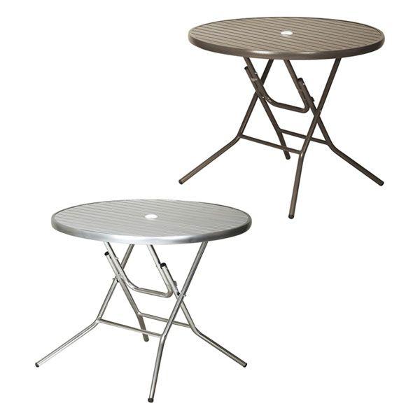 折りたたみ式テーブル アルミ製 クーポス アルミフォールディングテーブル ガーデンファニチャー ガーデン テーブル 机(代引不可)【送料無料】