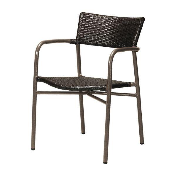 ガーデン チェア アルミ製 クーポス ブラック 肘付き 完成品 ガーデンファニチャー ガーデンチェア 椅子(代引不可)【送料無料】【int_d11】