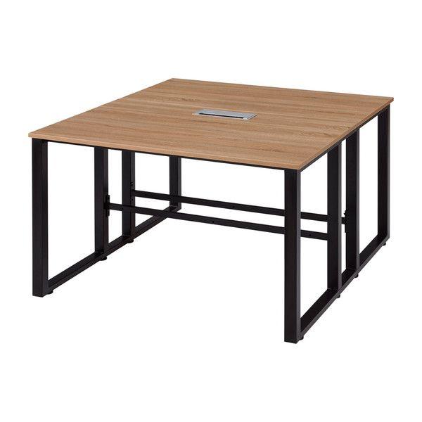 古木柄 木製テーブル 1214 RGミーティングテーブル 120×140cm テーブル デスク 机 木製(代引不可)【送料無料】
